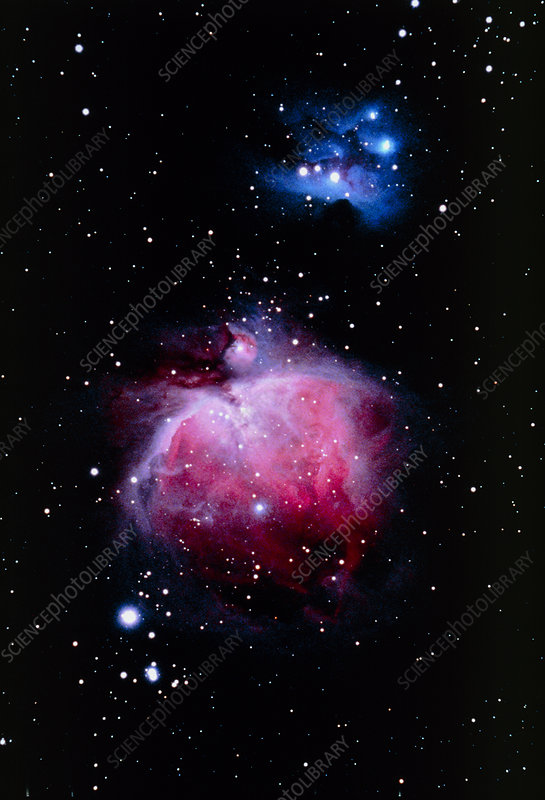 Optical image of the Orion nebula