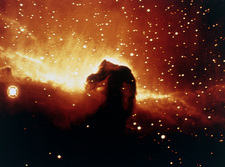 Coloured optical photo of Horsehead Nebula