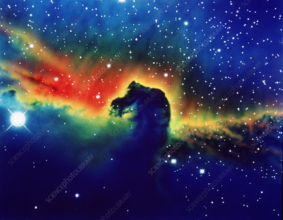 Optical photo of Horsehead Nebula
