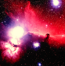Optical image of Horsehead Nebula and sur