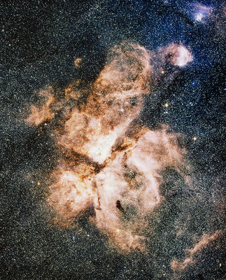 Optical image of the Carina nebula, NGC 3372