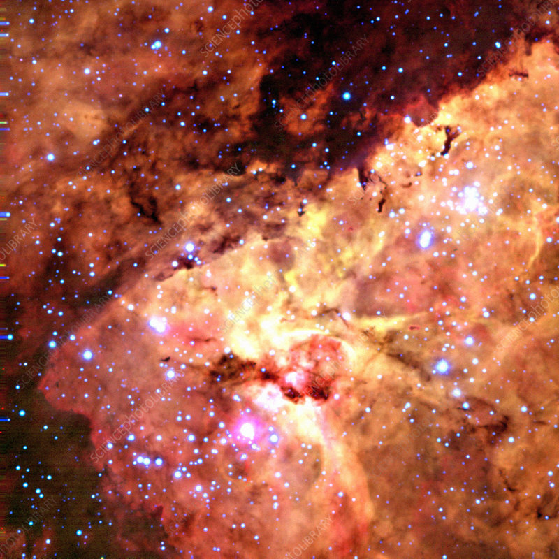CCD optical image of heart of Eta Carinae nebula