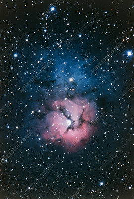 Optical image of the Trifid Nebula, M20
