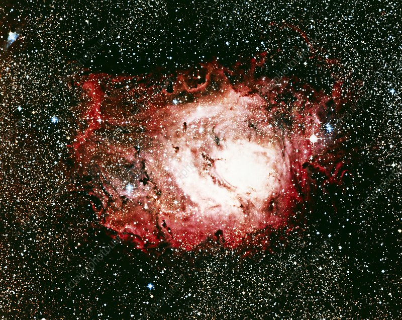 Optical image of the Lagoon nebula in Sagittarius
