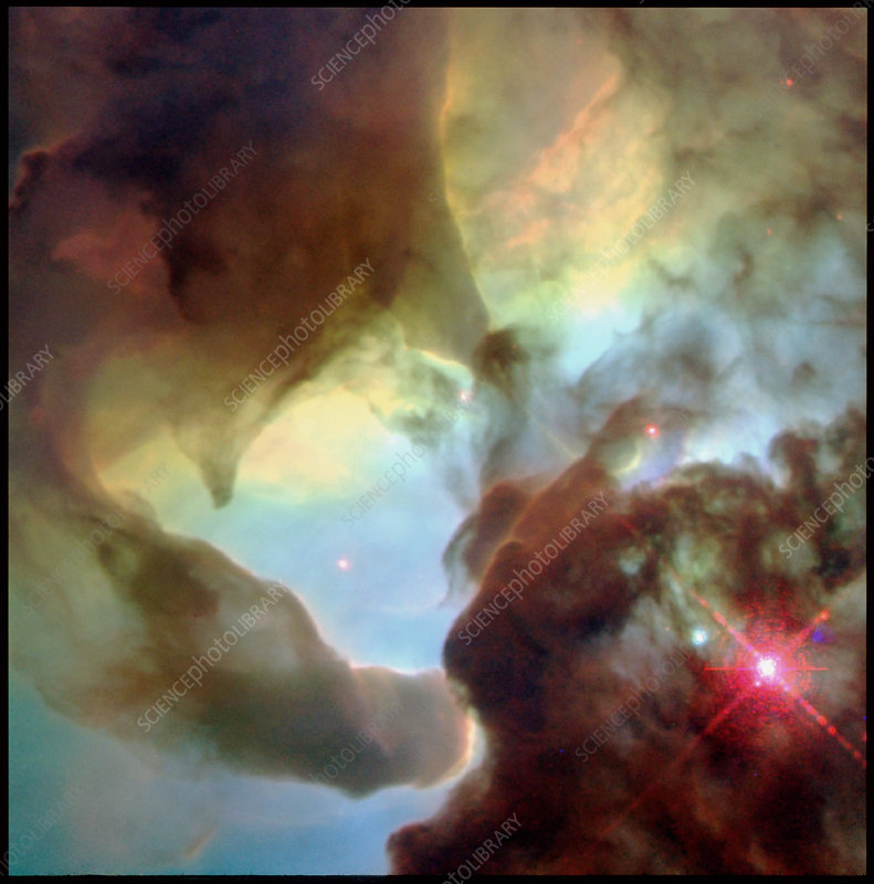 Tornado-like structures in the Lagoon Nebula, M8