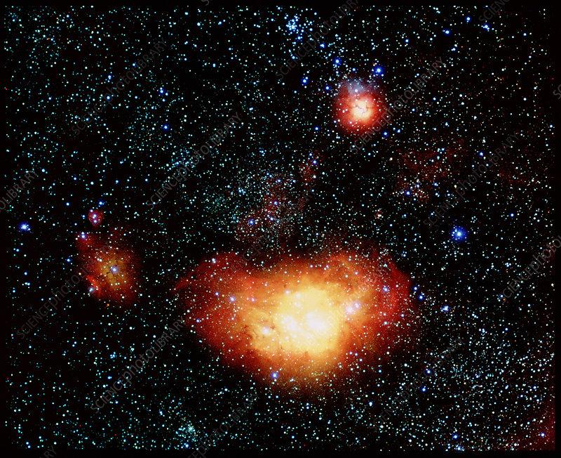 Lagoon and Trifida nebulae