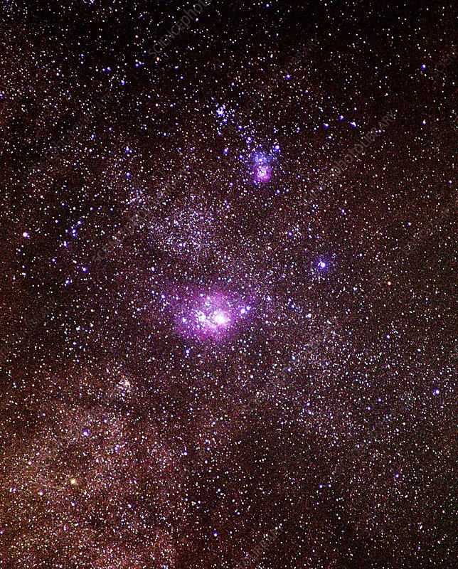 trifid and lagoon nebula - photo #25