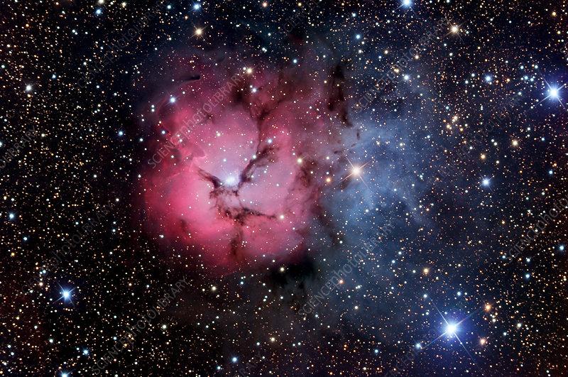 Trifid nebula (M20) - Stock Image R576/0093 - Science ...
