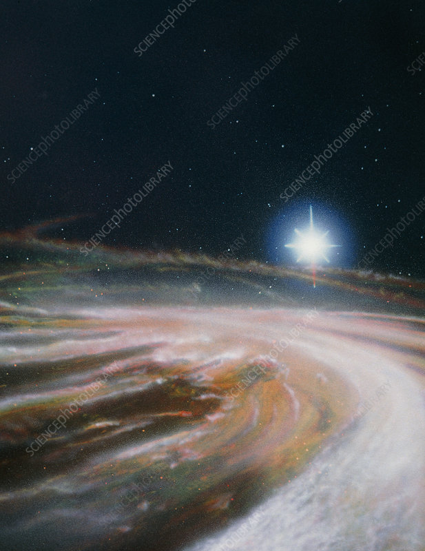 Artist's impression of the formation of a new star