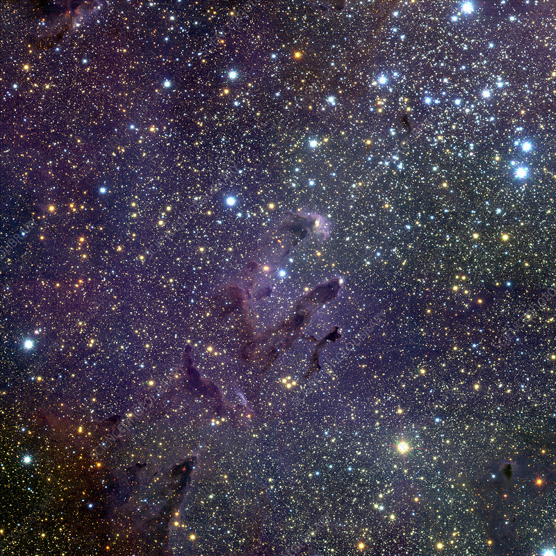 Young stars in Eagle Nebula