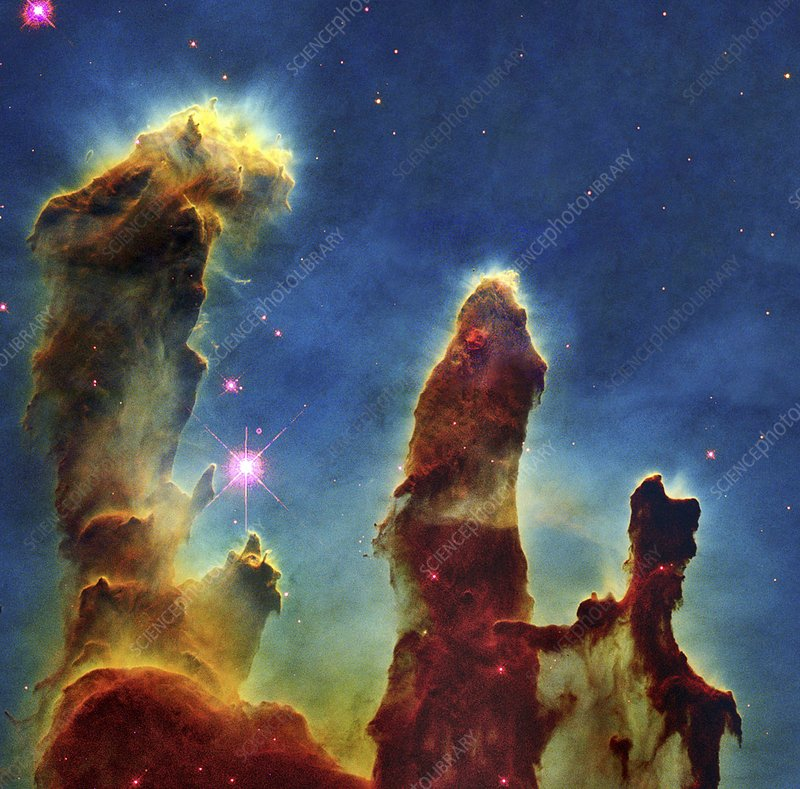 Gas pillars in the Eagle Nebula