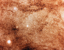 Optical image of dense stellar field in Milky Way