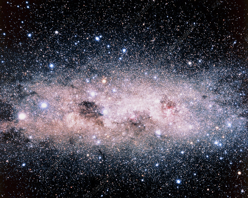 Starfield centred on the Southern Cross