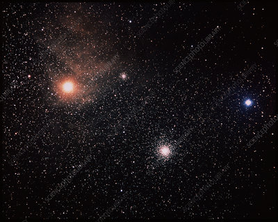 Antares and starfield