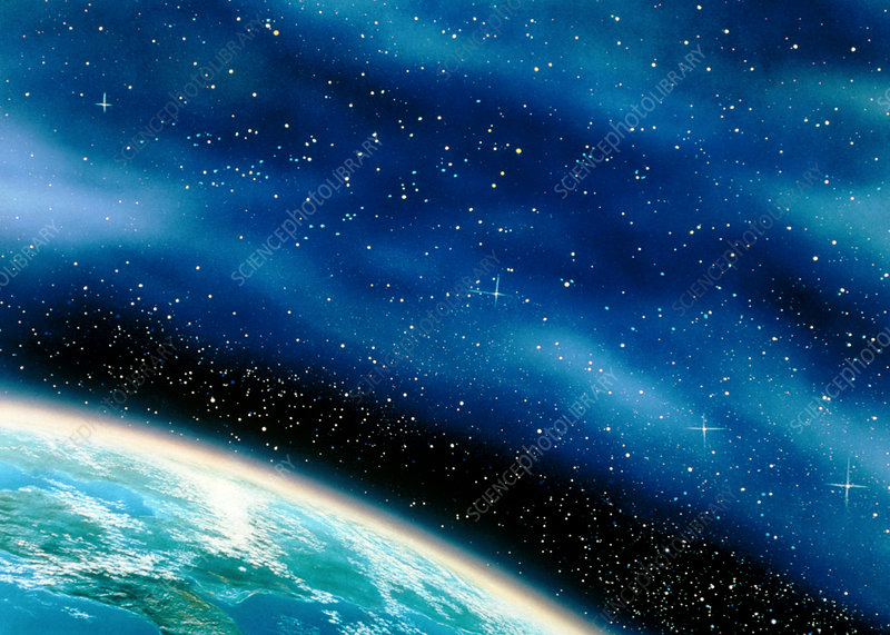 Artwork of part of the Earth against a starfield