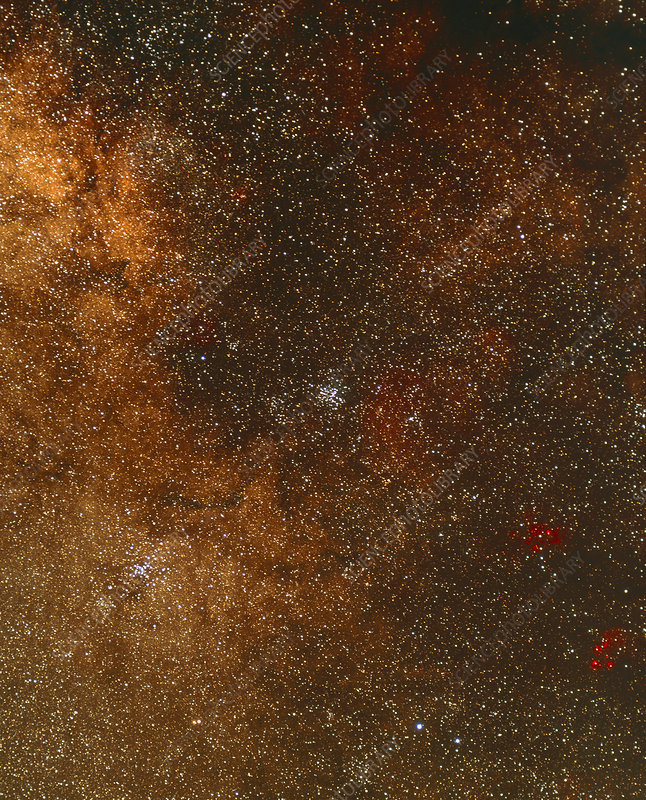 Optical image of a starfield in Scorpius