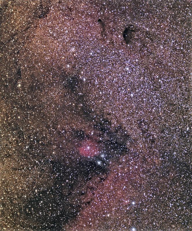 Sagittarius star cloud, optical image