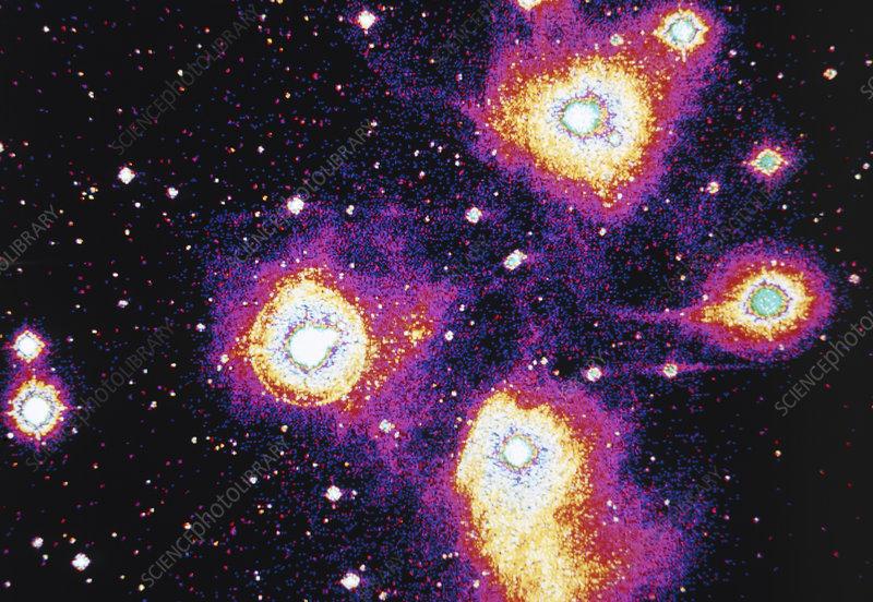 False-col optical image of the Pleiades