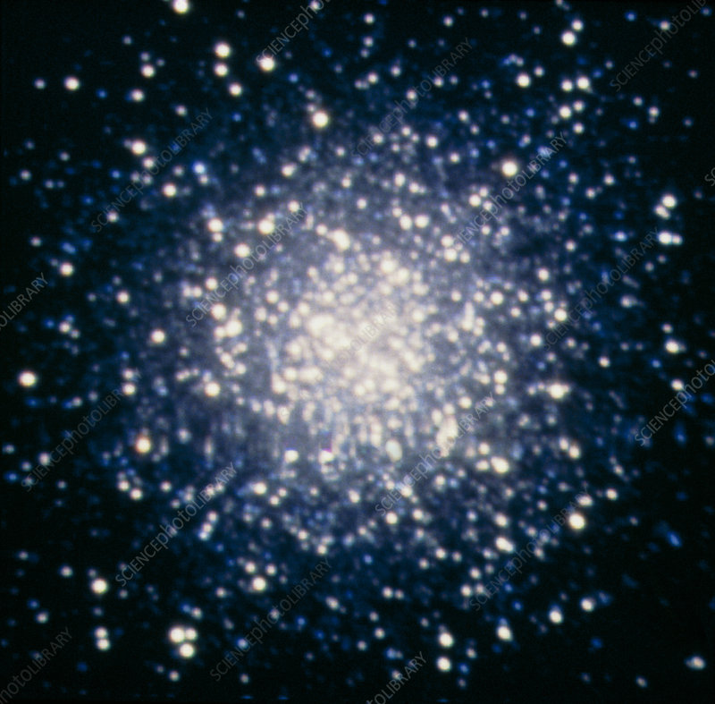 Optical CCD image of the globular cluster M13