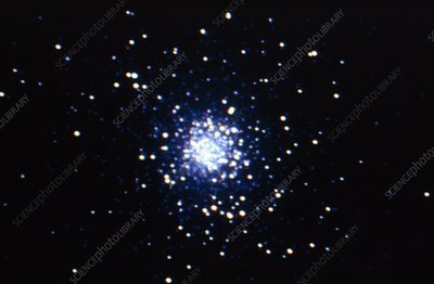 Optical CCD image of the globular cluster M5