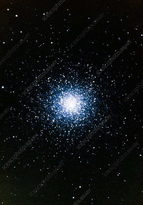 Optical photo of the globular star cluster M13