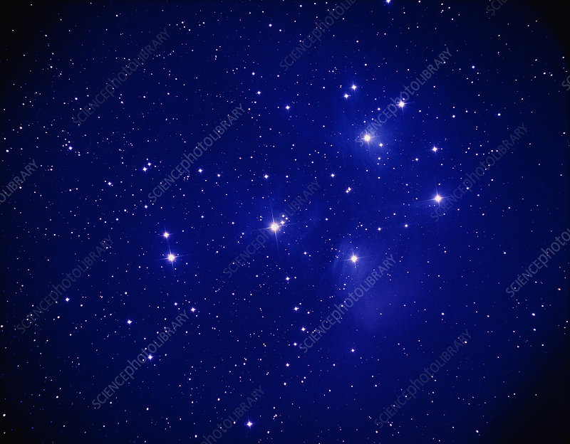 Image of the Pleiades open star cluster