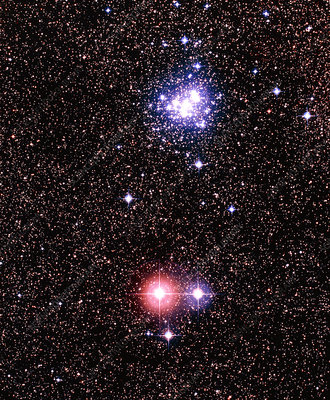 Optical image of open star cluster NGC 6231