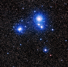 Optical image of the star cluster IC 2391 in Vela