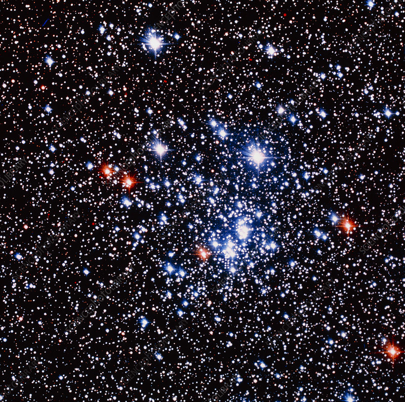 Optical photo of the open star cluster Chi Persei