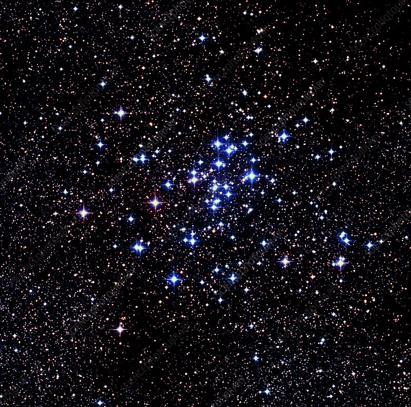 Optical image of the open star cluster NGC 6124