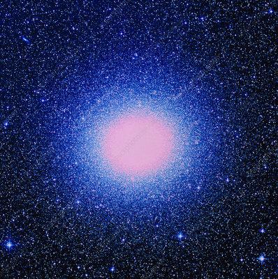 Optical image of globular cluster Omega Centauri
