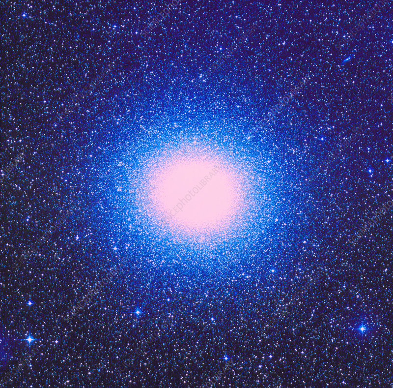 Optical photo of globular cluster Omega Centauri