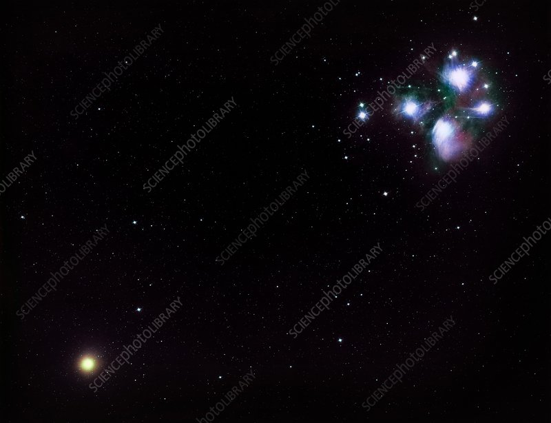 Halley's Comet and Pleiades