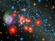 Massive star cluster, artwork