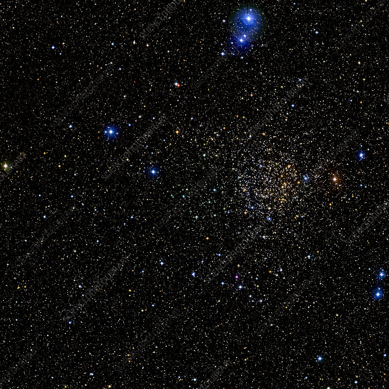 Open star cluster NGC 7789, optical image