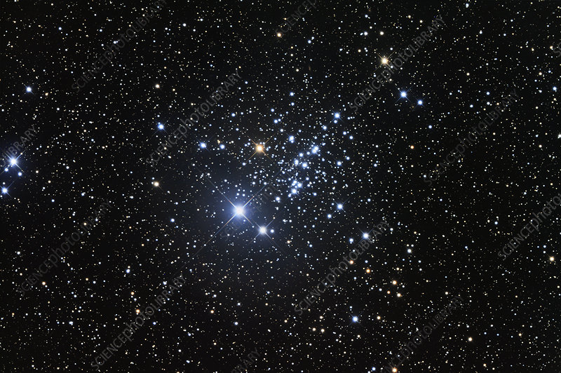 Open star cluster NGC 457, optical image