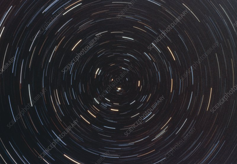 Optical photo of polar star trails