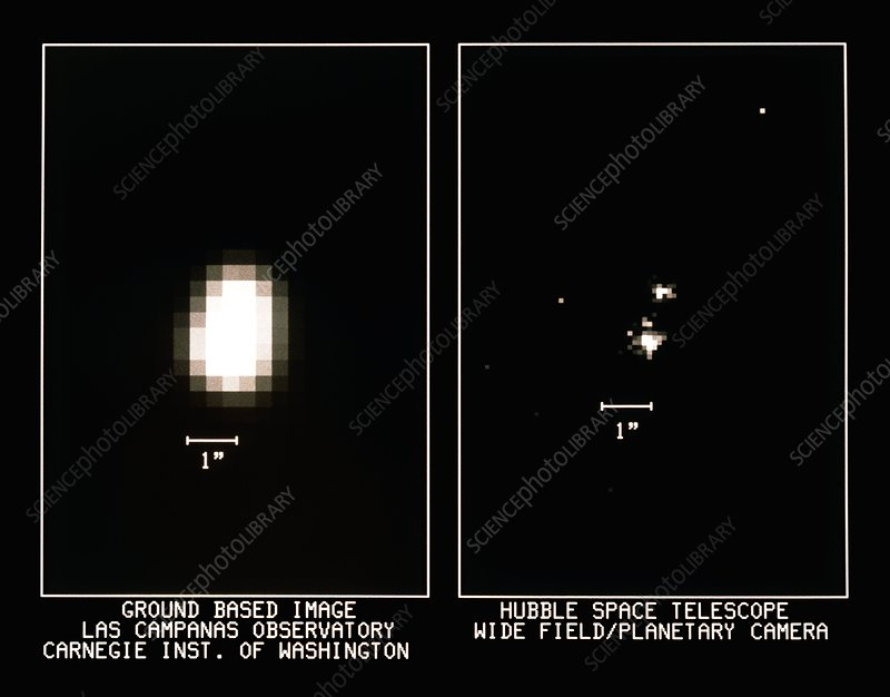 HST & ground based comparison of starfield NGC188