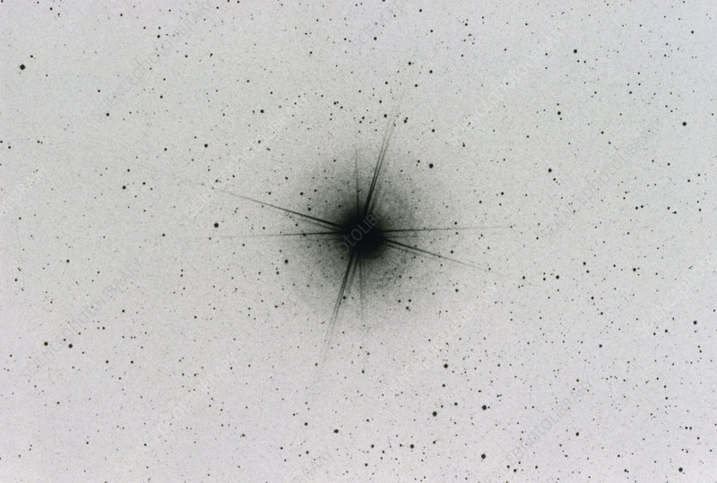 Negative optical photograph of Alpha Centauri