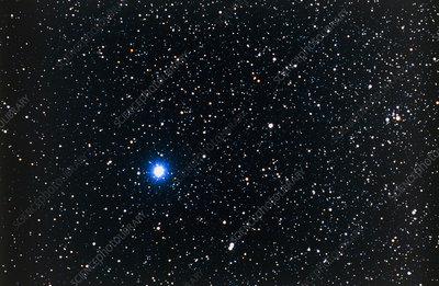 Optical photo of Vega, the brightest star in Lyra