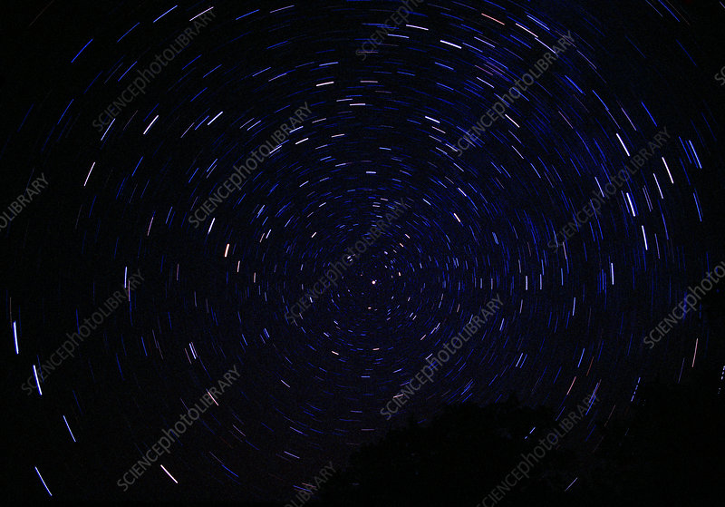 North polar star trails