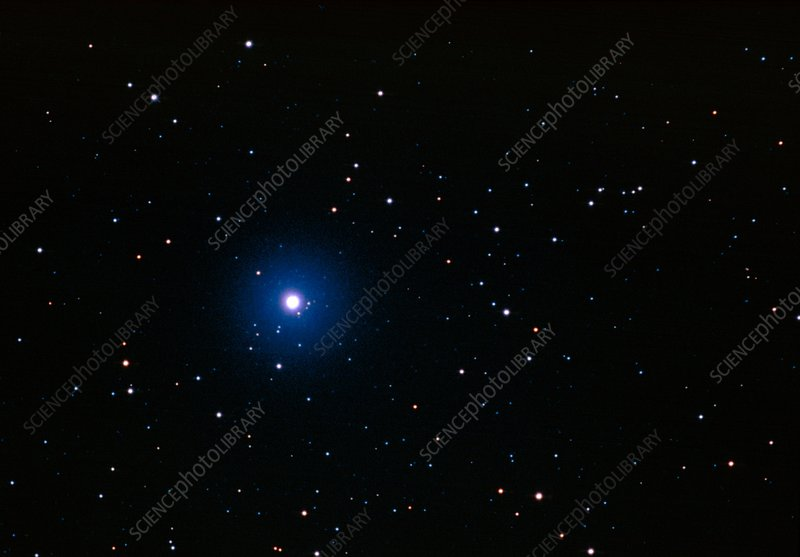 Optical image of a star field with Sirius