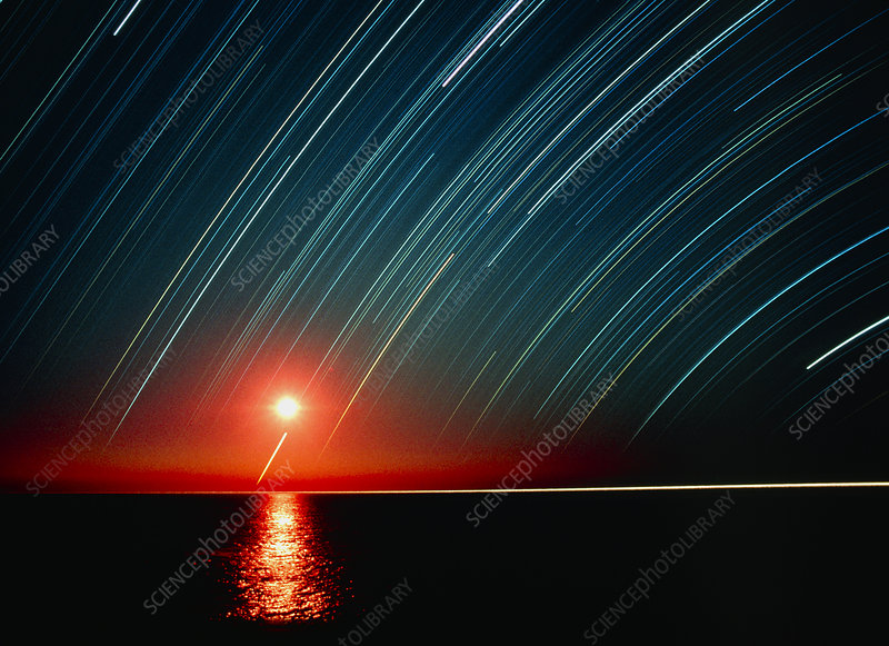 Star trails and a sunrise