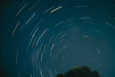 Star trails around the southern celestial pole