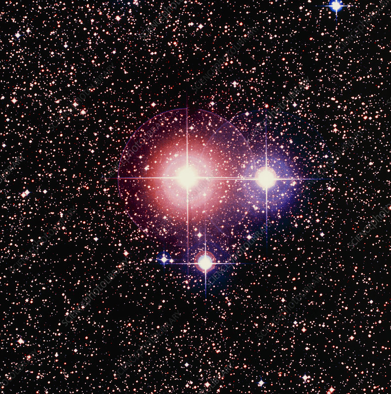 Optical image of the double star Zeta Scorpii