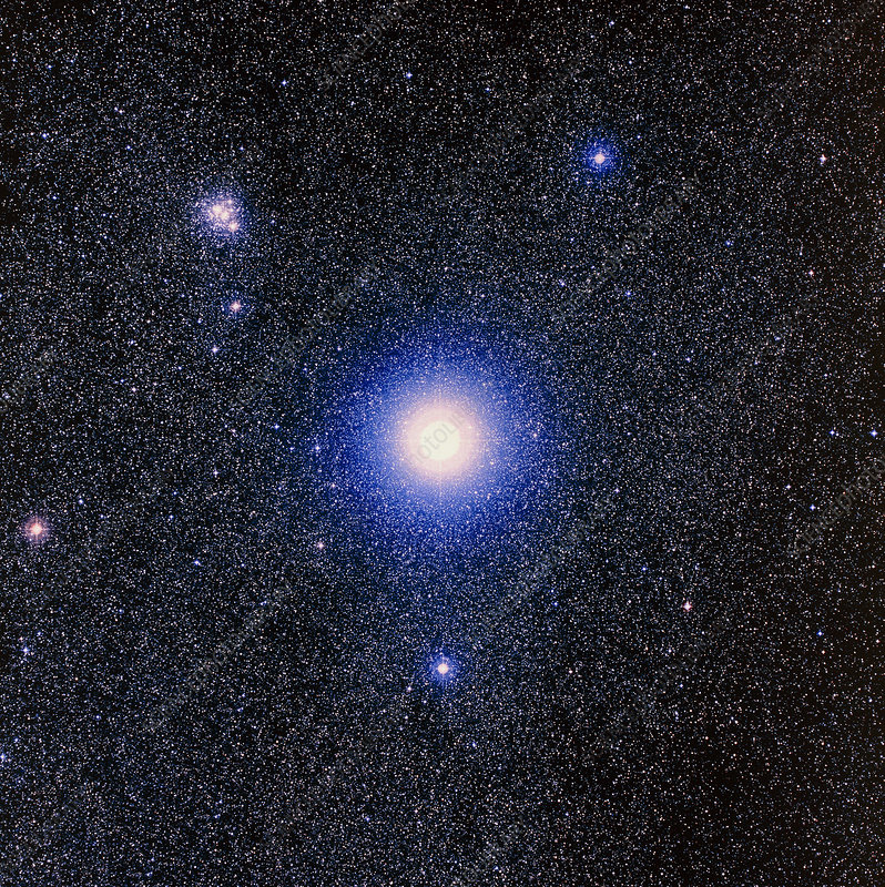 Optical image of the star Mimosa, or Beta Crucis