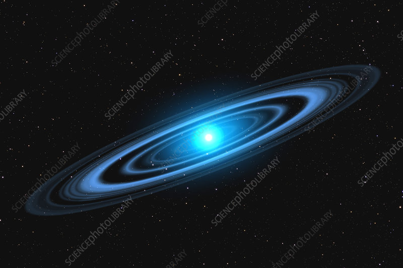 Vega star with rings - Stock Image - R620/0232 - Science
