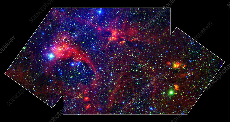 Massive stars forming in DR21