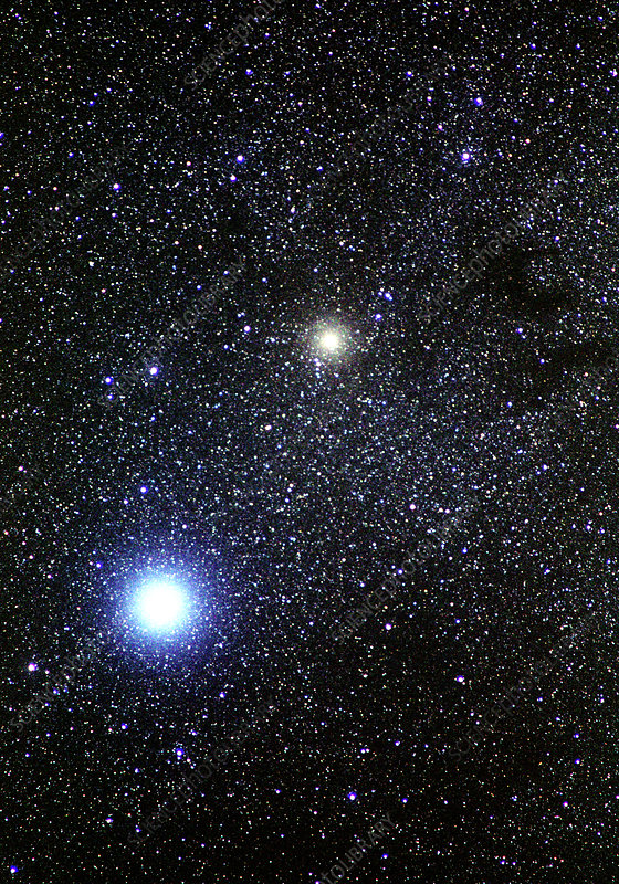 Altair and Tarazed stars