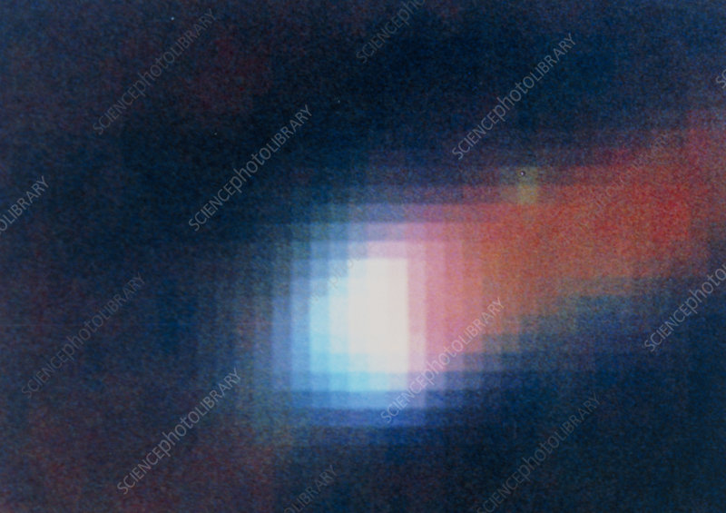 HST image of dust disc around star in Orion nebula